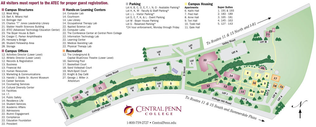 Central Penn College Map